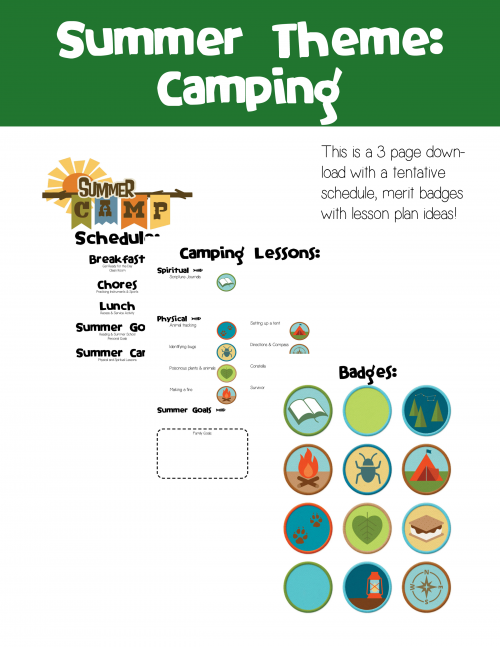 etsy summer theme -camping